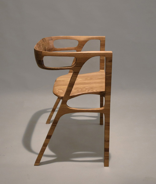handmade oak chair