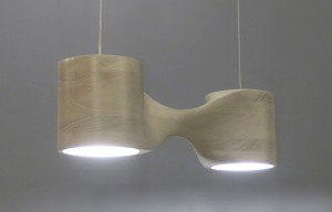 The N2 pendant lamp is shown here in bleached cherry