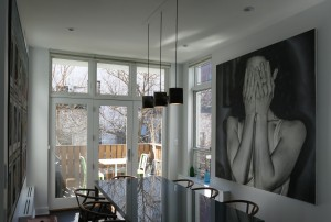 This is a photo of the N3 pendant lamp installed