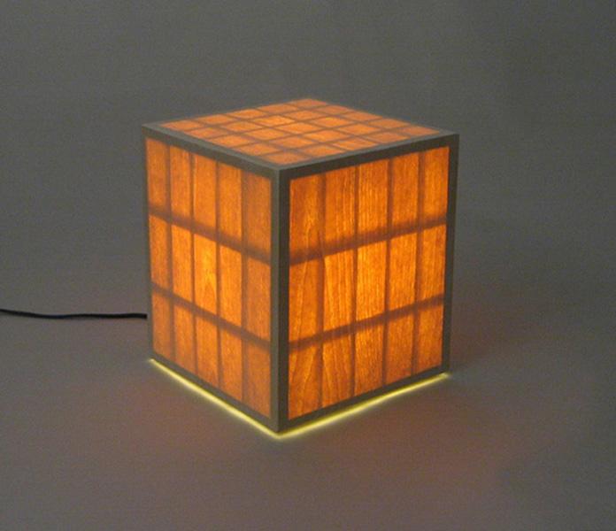 veneered box lamp