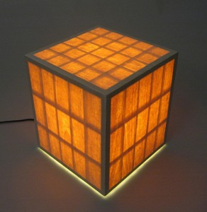 veneered box lamp