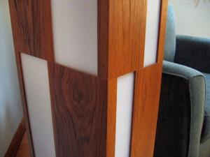teak and acrylic floor lamp