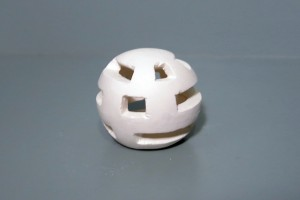 This is a photo of a plaster mockup for a lamp