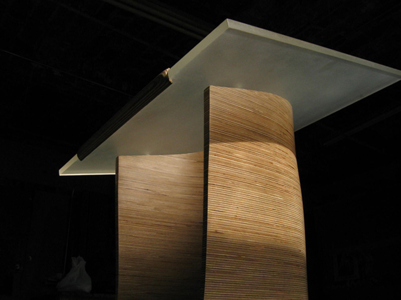 plywood podium
