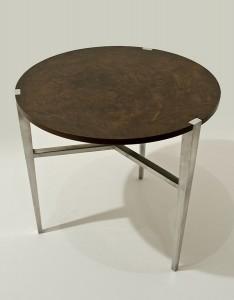 walnut and aluminut side table
