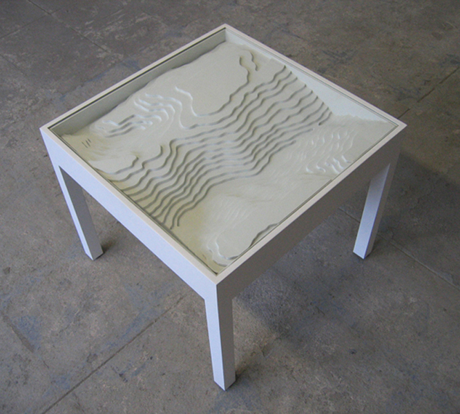 topographical side table